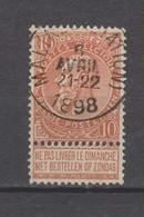 COB 57 Oblitéré MALINES (Station) - 1893-1900 Schmaler Bart