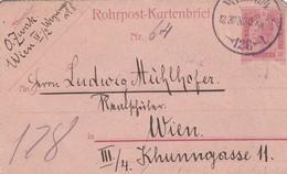 Rohrpostkartenbrief 1905 Wien - 1850-1918 Empire
