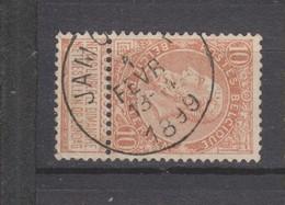 COB 57 Oblitéré JAMOIGNE - 1893-1900 Schmaler Bart