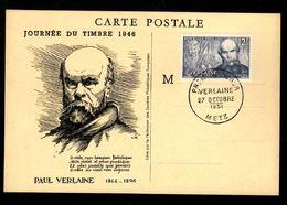 Journée Du Timbre 1946 -METZ - Paul Verlaine - Día Del Sello