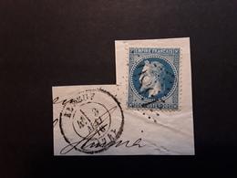Empire Lauré No 29 Obl GC 1386 + Cachet à Date ELBEUF  Seine Maritime,  3 Mai 1870 , Sur Fragment TB - 1863-1870 Napoléon III Lauré