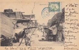 Äthiopien: 1904: Djibouti Ansichtskarte Grand Rue Du Village Nach Bordeaux - Ethiopia