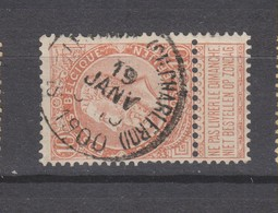 COB 57 ST-GILLES - BRUX. (Ch. De Charleroi) - 1893-1900 Schmaler Bart