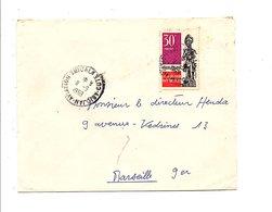 COTE D'IVOIRE LETTRE DE ABIDJAN AVIATION POUR LA FRANCE 1969 - Côte D'Ivoire (1960-...)