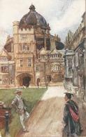 """J. Finnemore. Brasenose College With Dome, Oxford"" Tuck Oilette Oxford Colleges Ser. PC # 2714 - Tuck, Raphael"