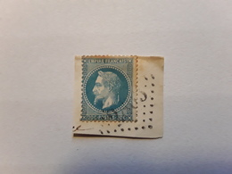 Empire Lauré No 29 Obl GC 2803 De LE PÉAGE,  Isère  , Sur Fragment - 1863-1870 Napoléon III Lauré