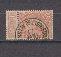 COB 57 Oblitéré ANVERS (Av. De L'Industrie) - 1893-1900 Schmaler Bart