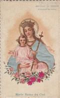 Images Religieuses : Gaufrée Et Tissus De Soie : Marie Reine Du Ciel : Chocolat Du Prieuré De St-antoine De Padoue - Andachtsbilder