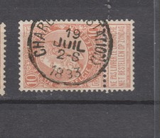 COB 57 Oblitéré CHARLEROI (Station) - 1893-1900 Schmaler Bart