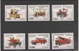 CAMBODGE Véhicules De Pompiers Anciens Année 1997 N° Y/T : 1403/08** - Cambodge