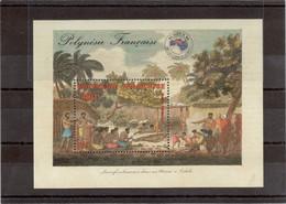 AN4 - Bloc Feuillet BF 10 ** MNH De 1984 - Sacrifice Humain Dans Un Marae De TAHITI En Présence De JAMES COOK- - Polynésie Française