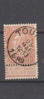 COB 57 Oblitéré TOURNAI - 1893-1900 Schmaler Bart