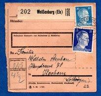 Colis Postal  -  Départ Weissenburg -  21/12/1942  - Pour Cocheren  - - Allemagne