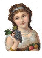 Grand Découpi :  Jeune Fille Avec Fruits, - Children