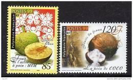Polynésie N° 588 / 89  XX  Fruits Du Fenua ,  La Paire Sans Charnière TB - Polynésie Française