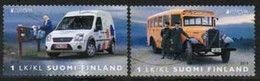 2013 Finland, Europa Cept, Postal Vehicles Complete Set Used. - Finnland