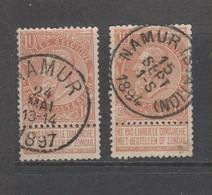 COB 57 Oblitéré NAMUR + NAMUR (Station) - 1893-1900 Schmaler Bart