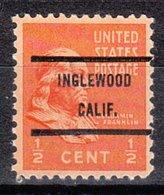 USA Precancel Vorausentwertung Preo, Bureau California, Inglewood 803-71 - Vereinigte Staaten