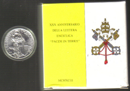 VATICANO 1993 500 Lire Enciclica Pacem In Terris - Vaticano
