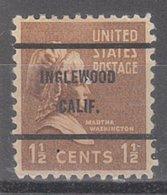 USA Precancel Vorausentwertung Preo, Bureau California, Inglewood 805-61 - Vereinigte Staaten