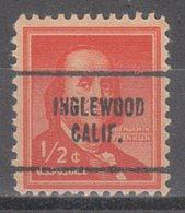 USA Precancel Vorausentwertung Preo, Locals California, Inglewood 704 - Vereinigte Staaten