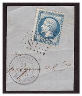 N° 22 Obl. 2240 +càd Bat Vat PHILIPPEVILLE - 1862 Napoléon III.