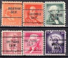 USA Precancel Vorausentwertung Preo, Locals California, Inglewood 704, 6 Diff. - Vereinigte Staaten