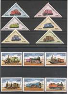 CAMBODGE Locomotives Anciennes Années 1997/98 N° Y/T :  1434/39-1503/14** Côte : 22,00 € - Cambodge