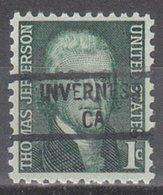 USA Precancel Vorausentwertung Preo, Locals California, Inverness 841 - Vereinigte Staaten