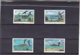 St Lucie - Yvert 759 / 62 ** - SPECIMEN - Oiseaux - Fregate - Mouettes - St.Lucia (1979-...)