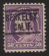 1917 US, 50c, Benjamin Franklin, Used, Sc 517, Mi 239C, Berkley Precancel - Etats-Unis
