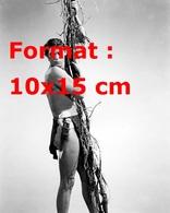 Reproduction D'une Photographie Ancienne De Johnny Weismuller Dans Tarzan Accroché à Une Liane En 1940 - Reproductions