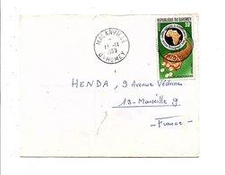 DAHOMEY LETTRE DE MALANVILLE POUR LA FRANCE 1969 - Bénin – Dahomey (1960-...)