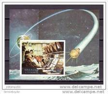 B97-  Bloc Imperf. MNH Sharjah  Apollo 17    SC.113B - Space