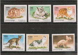 CAMBODGE  Faune : Chats Année  1998 N° Y/T : 1524/29** - Cambodge