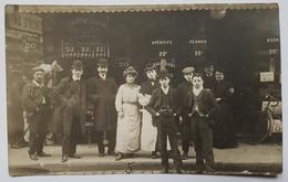 CARTE POSTALE - FRANCE - PHOTO - DEVANTURE - PERSONNELS ET CLIENTS - TARIFS - DEBUT XX° - CAFE NON IDENTIFIE - Cafés