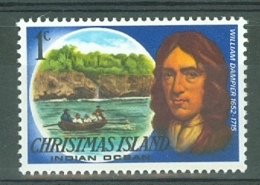 Christmas Is: 1977/78   Famous Visitors   SG67   1c   MNH - Christmas Island