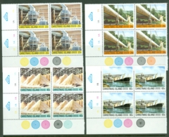 Christmas Is: 1981   Phosphate Industry (Series 4)   MNH Corner Blocks - Christmas Island