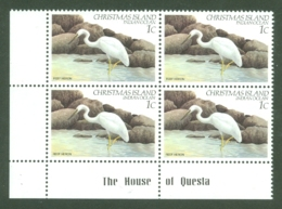 Christmas Is: 1982/83   Birds   SG152   1c   MNH Corner Block - Christmas Island