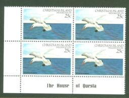 Christmas Is: 1982/83   Birds   SG158   25c   MNH Corner Block - Christmas Island