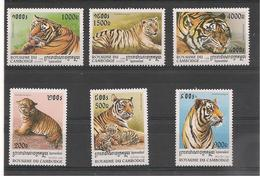 CAMBODGE Année Du Tigre Année  1998 N° Y/T : 1503/08** - Camboya