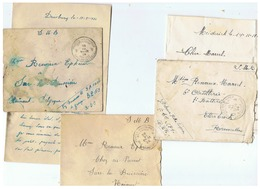 POSTE MILITAIRE BELGIQUE CORRESPONDANCE MILITAIRE 1924  POUR SARS - LA -BUISSIERE - Marcophilie