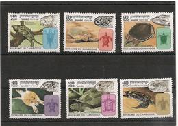 CAMBODGE  Faune : Tortues Année  1998 N° Y/T : 1556/61** - Cambodge