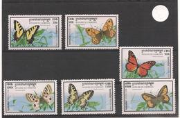 CAMBODGE  Faune :  Papillons Année  1998 N° Y/T : 1548/53** - Cambodia