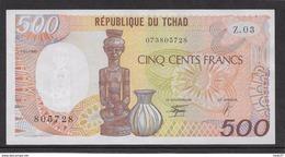 Tchad - 500 Francs 1990 - Pick N°9c - SUP - Tchad