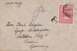 TASMANIE LETTRE TAXEE DE LAUNCESTON POUR BERLIN - 1853-1912 Tasmania