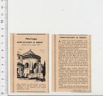 Presse 1955 Pélerinage Eglise Saint-Guilhem-le-Désert 51CEM-C4 - Vieux Papiers