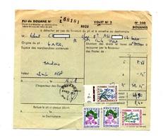 Pli De Douane 260 + Taxe Fleur - Marcophilie (Lettres)