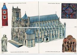 LOT 4 CPM BOURGES ( PUZZLE Cathédrale) Bernard CAPO 1995 - Bourges