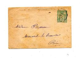 Lettre Entiere 5 C  Sage Cachet  ? - Standard Covers & Stamped On Demand (before 1995)